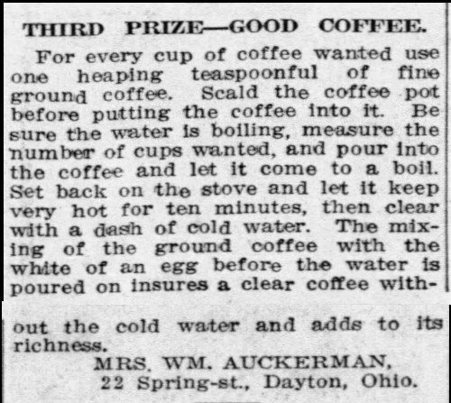 Mrs. Auckerman's Good Coffee