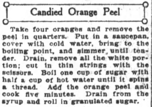 Mrs. De Graf's Candied Orange Peel Recipe