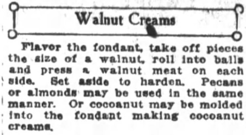 Mrs. De Graf's Walnut Creams Recipe
