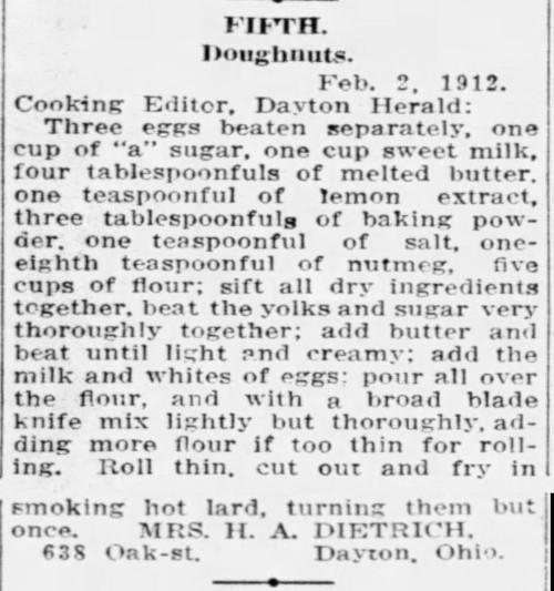 Mrs. Dietrich's Doughnuts Fifth Prize
