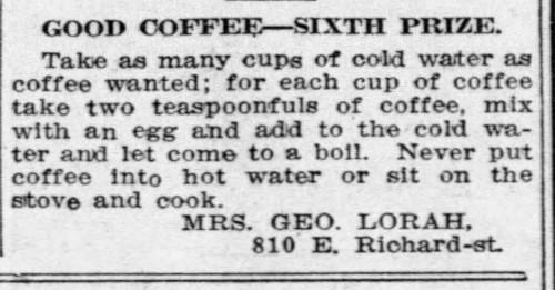 Mrs. Lorah's Good Coffee