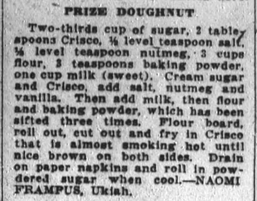 Ms. Frampus' Prize Doughnuts Recipe