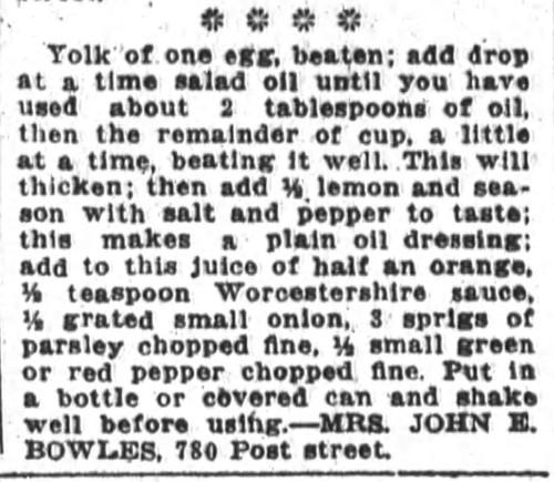 Mrs. Bowles' Thousand Island Dressing Recipe