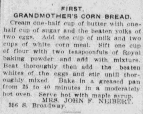 old fashioned cornbread