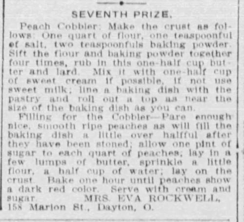 Mrs. Rockwell's Peach Cobbler