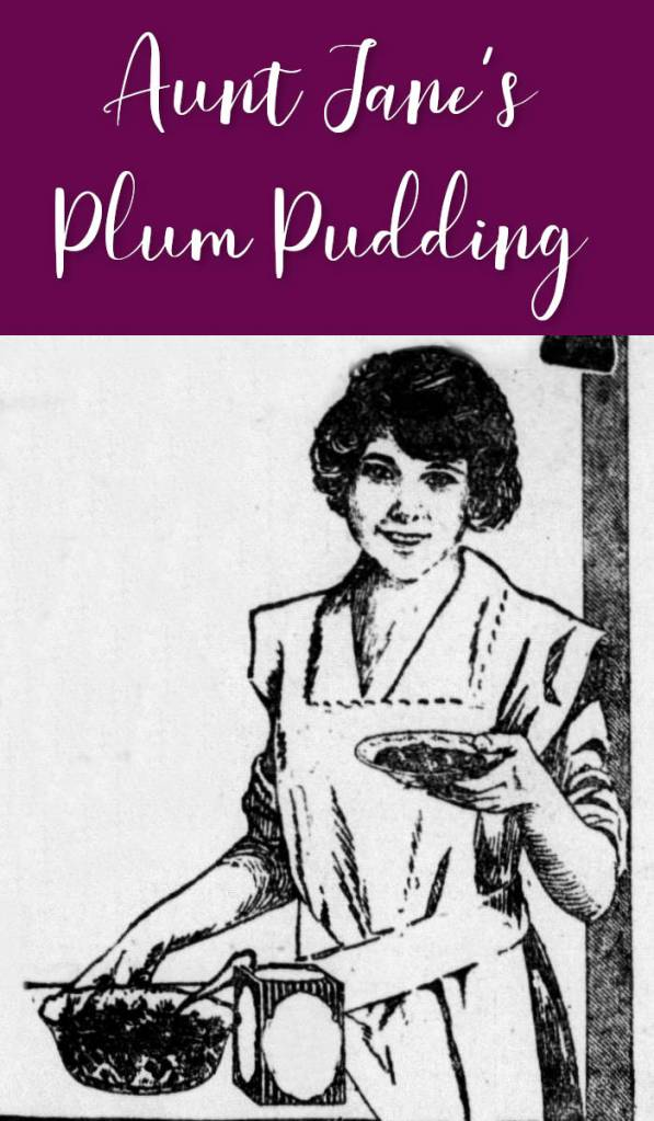 Aunt Jane's Plum Pudding