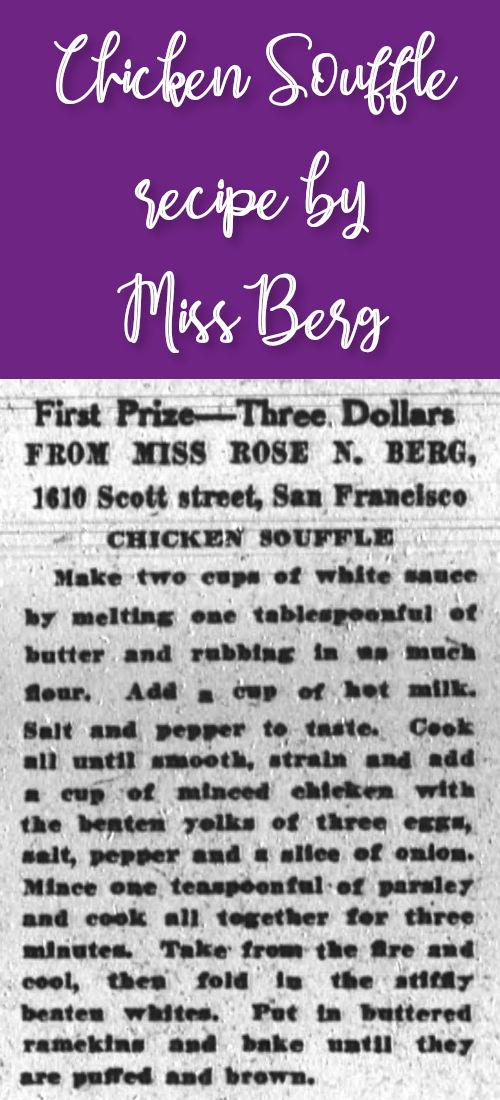 Chicken Souffle by Miss Berg