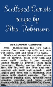 Scalloped Carrots by Mrs. Robinson