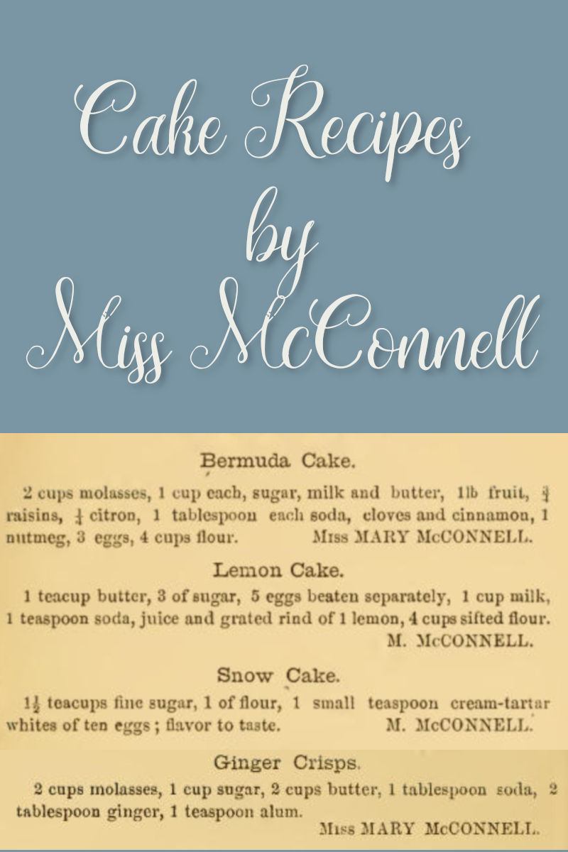 Snow Cake and Other Cake Recipes by Miss McConnell