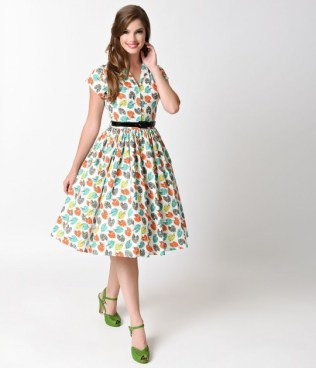 bernie_dexter_1950s_white_pretty_pallet_kelly_cap_sleeve_swing_dress_2