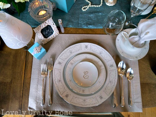 breakfast at tiffany's place setting