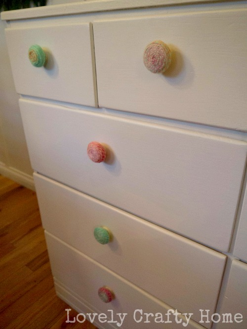 yarn covered knobs