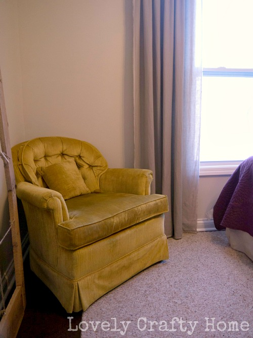 vintage gold chair