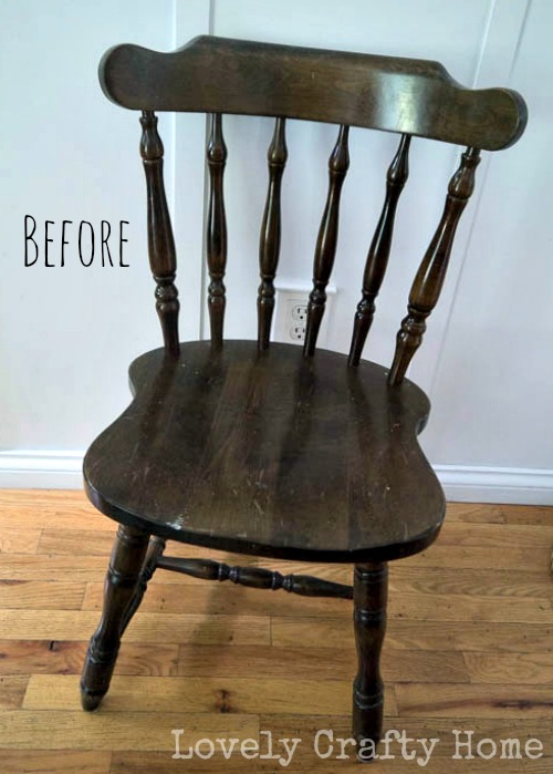 simple wood chair makeover
