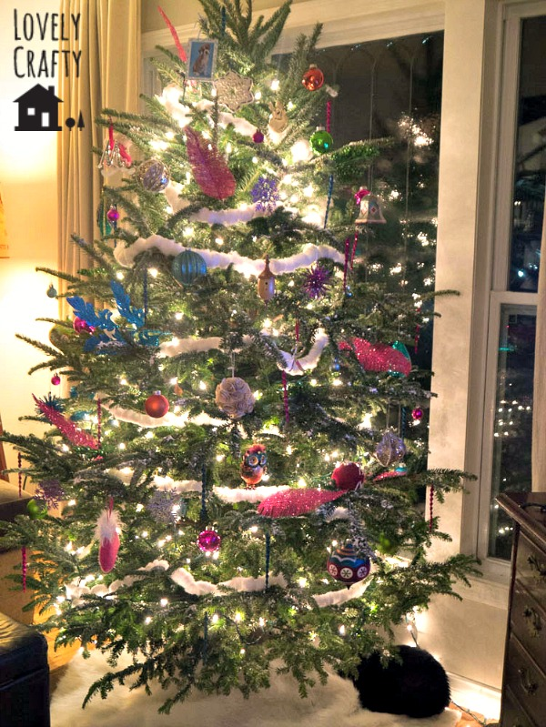 Candy Colored Tree and Fur Tree Skirt