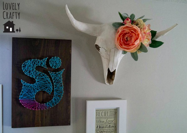 Longhorn Skull with Floral Headpiece