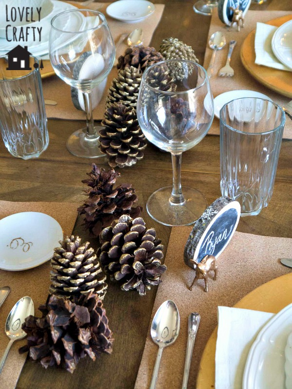 Gold Pinecone Centerpiece