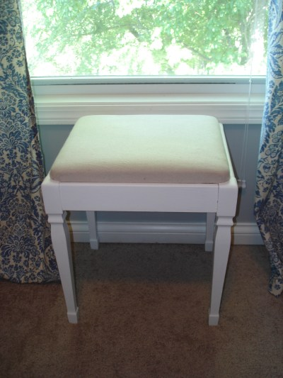 reupholster cushion on stool or bench 6