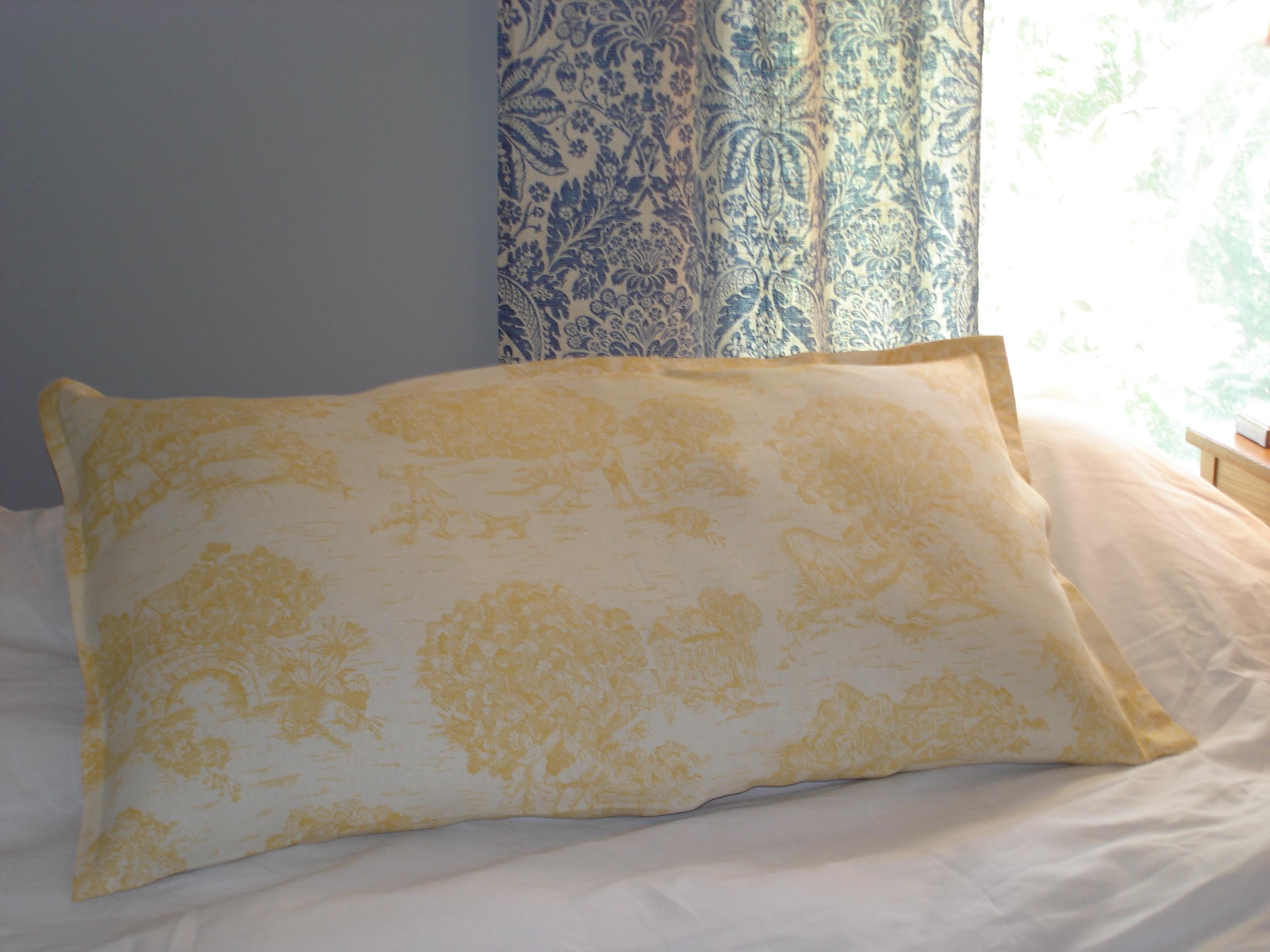 tutorial no sew pillow sham. Black Bedroom Furniture Sets. Home Design Ideas