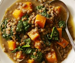 Butternut Squash and Lentil stew