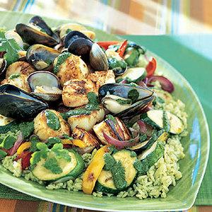 Seafood Salad With Cilantro Dressing Recipe