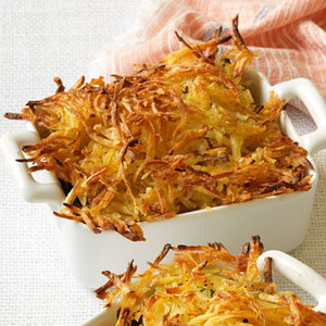 Seafood Bake with Crispy Hash Brown Topping