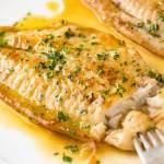 Fish Fillets and Lemon Butter Sauce
