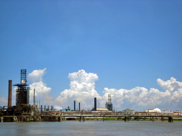 New Orleans view from the river