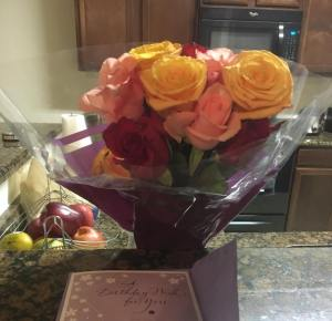 roses from boyfriend