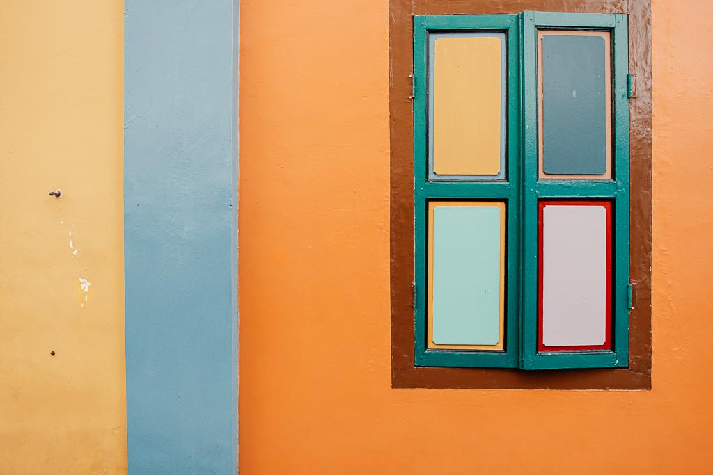 fenêtre colorée