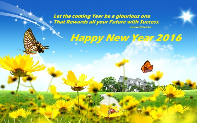 Happy New Year Flower wallpaper 2016