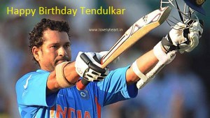 Tendulkar Birthday wallpaper 2015