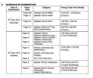 uptu 2015 exam schedule