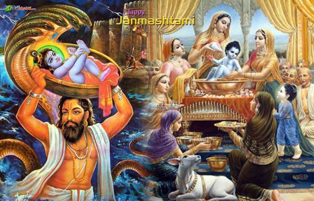 shri krishna janmashtami hd wallpaper 2015