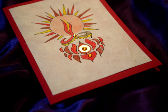 Cute handmade diwali cards 2015