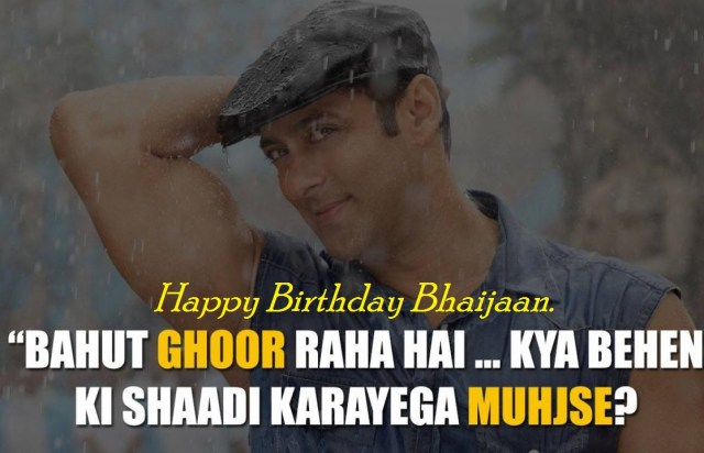 Hpy bday Salman with his dialouge Wallpaper