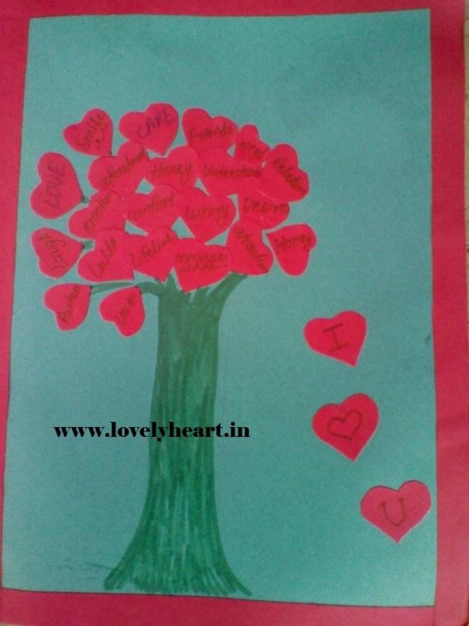 Happy Valentines day card ke designs Handmade Simple