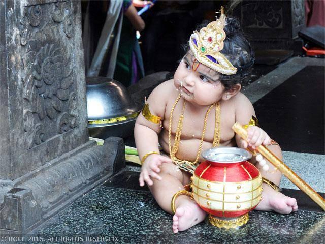 cute Real Bal Gopal Pic Golu polu Bachha Kanha ji
