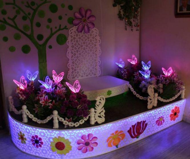 Ganpati Pooja room decoration Ideas Simple and cute Ganpati decoration