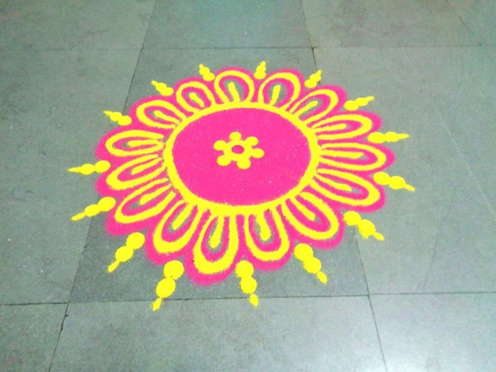 Easy Rangoli Design for Diwali Competition Ganesh ji Theme Rangoli ...