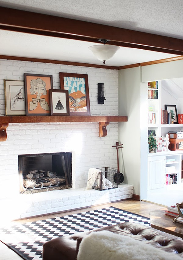 Brick Fireplace To Paint Or Not To Paint Lovely Indeed