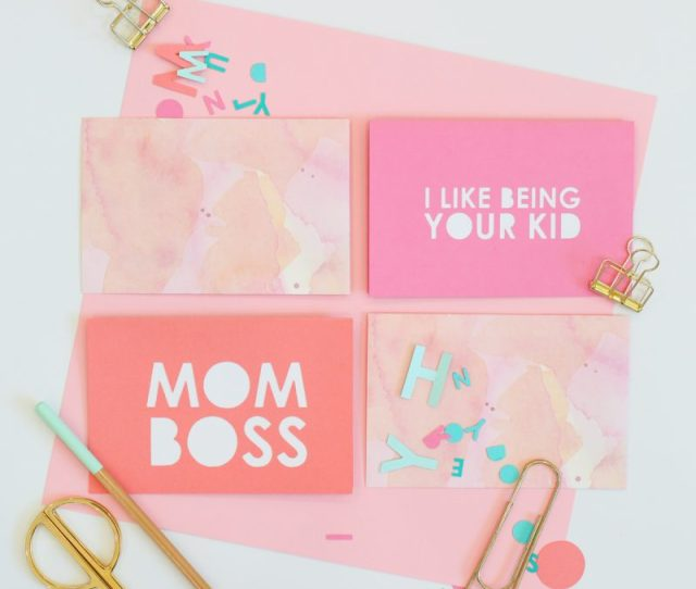 Diy Typography Mothers Day Cards