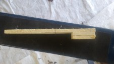 "A jig I made to make sure I have a 6"" reveal on the siding. The pencil line is the nail height."