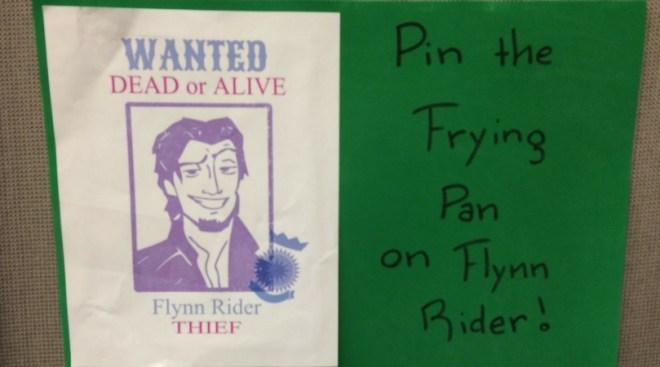Tangled Pin the Frying Pan Game
