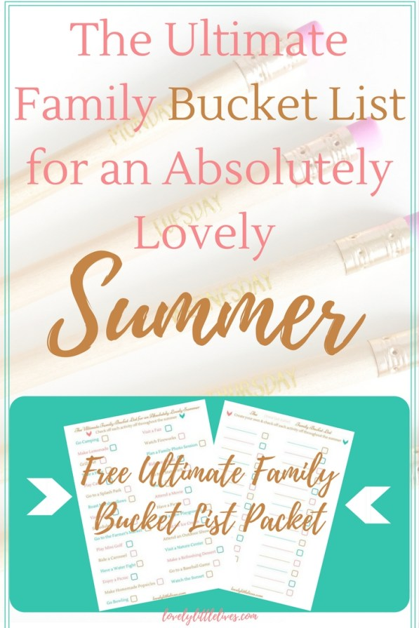 The Ultimate Family Summer Bucket List