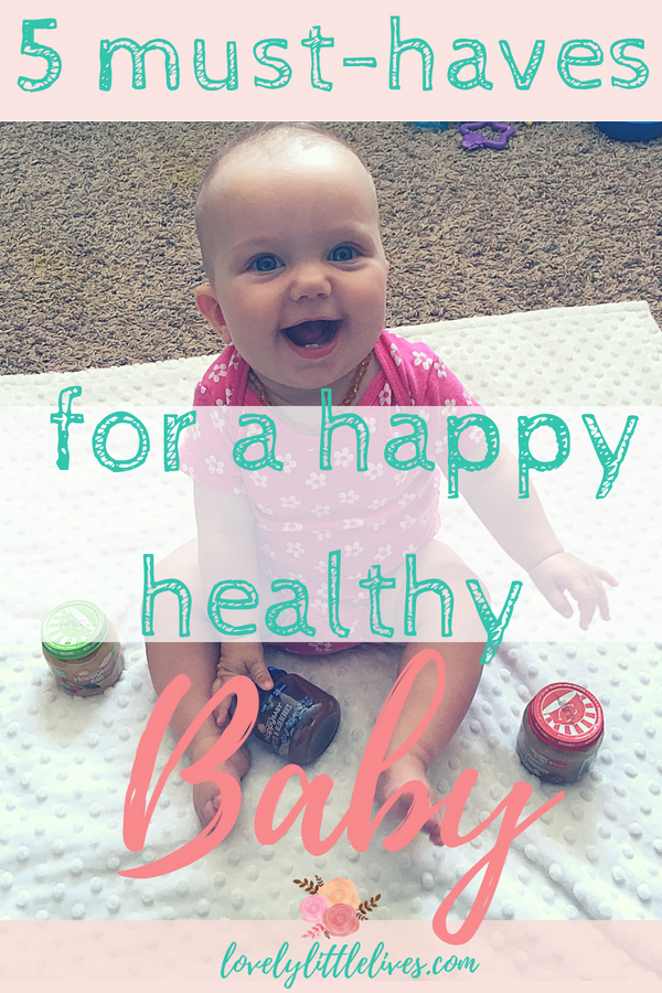 5 Must-Haves for a Happy Healthy Baby. Click through for your coupon #sponsored by happy family brands #organicbaby food #healthybaby #thisishappy