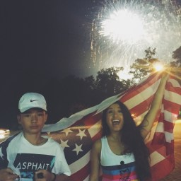 July 4, 2015 - Fourth of July with my brother