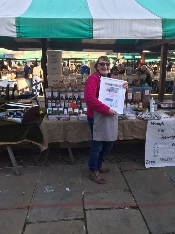 Steph of Steph's Sustainable Stuff, one of Chesterfield's leading eco businesses and a regular at Chesterfield market.