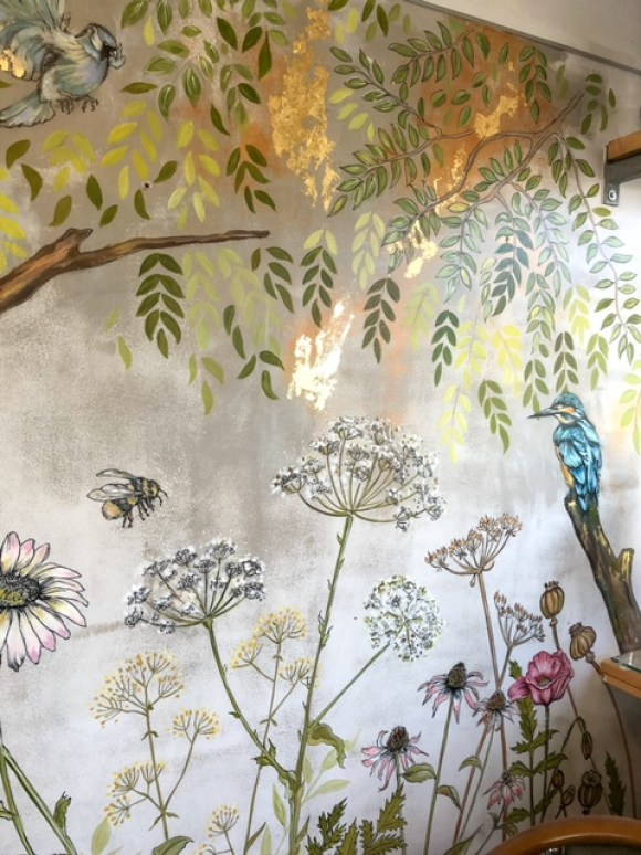 Riverside Kitchen Bakewell mural