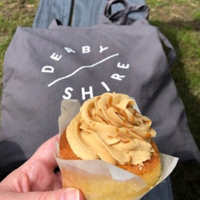 shop local cupcake and Derbyshire tote bag